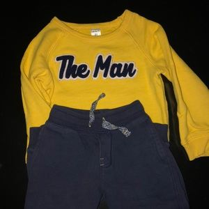 """The Man"" sweatsuit, Carters brand."